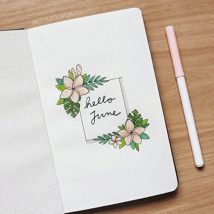 120 Amazing June Bullet Journal Monthly Cover Page