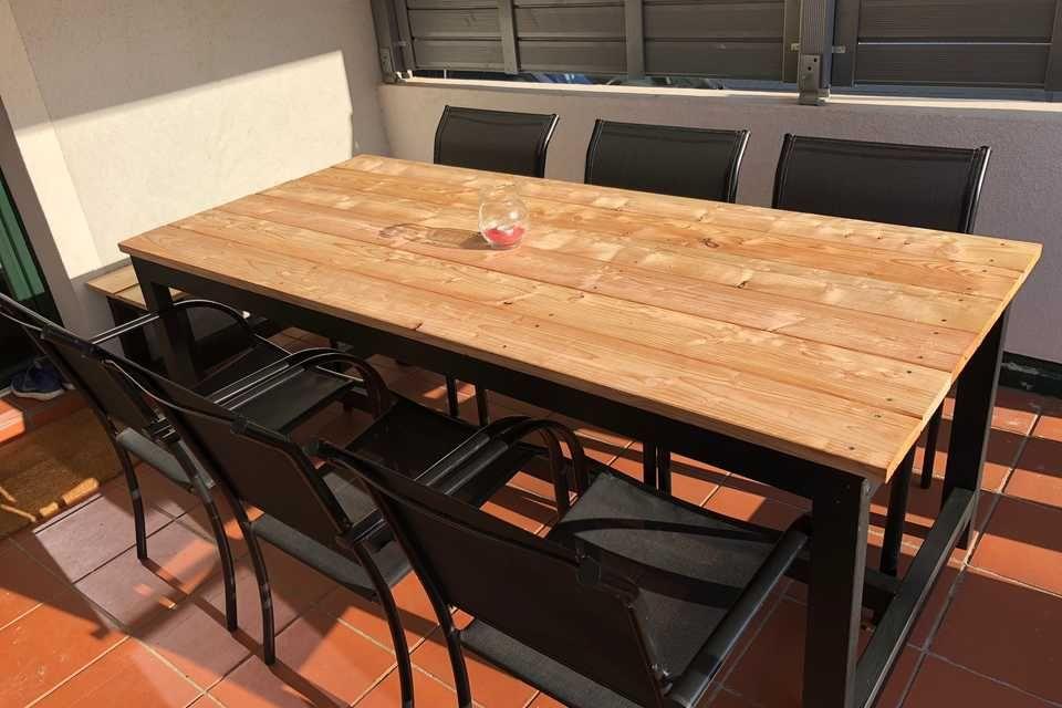 Gartentisch Richard Create By Obi Gartentisch Selber Bauen Gartentisch Tisch Selber Bauen
