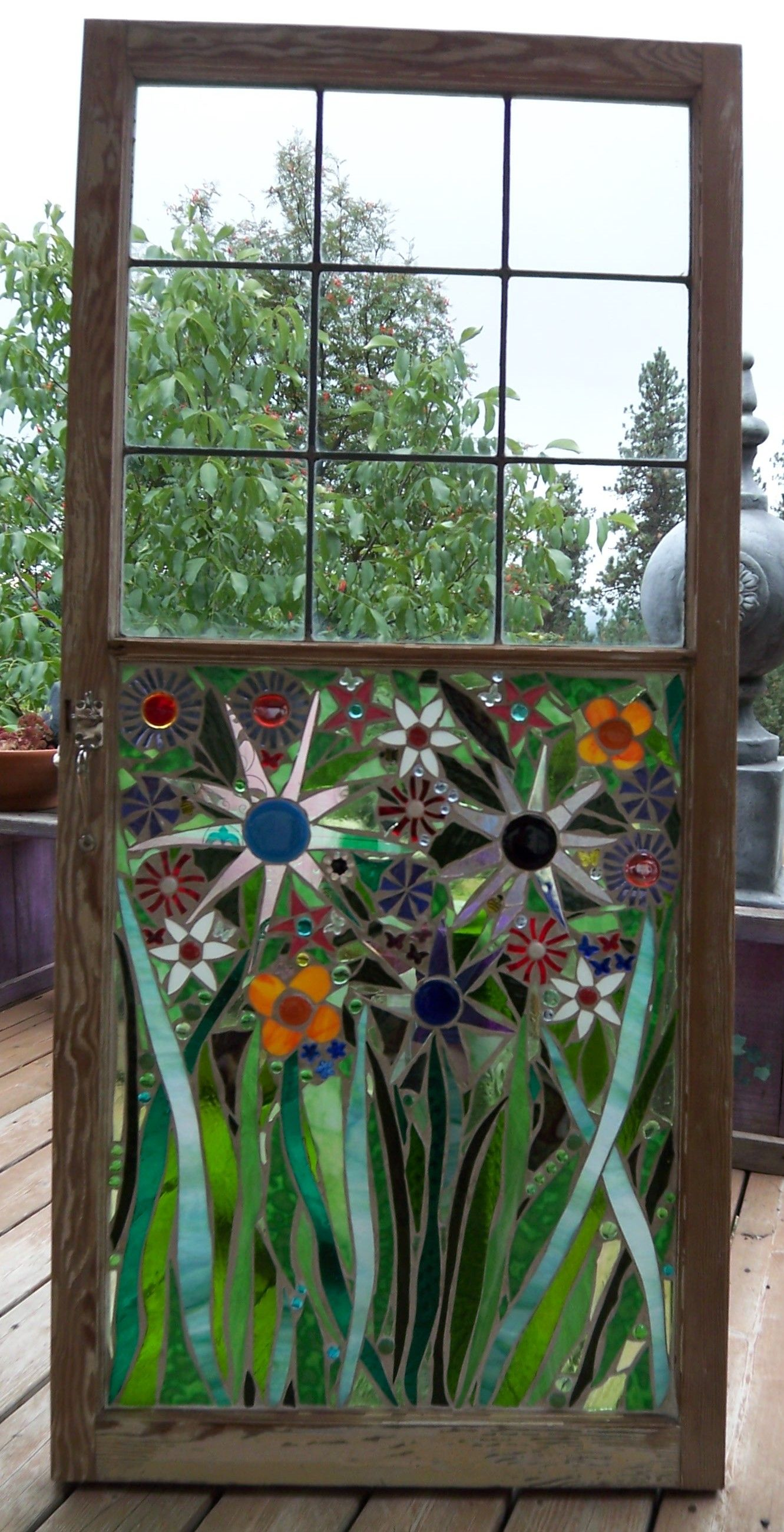 Old Stained Glass Mosaic Window