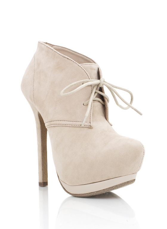 lace-up suede booties $32.70