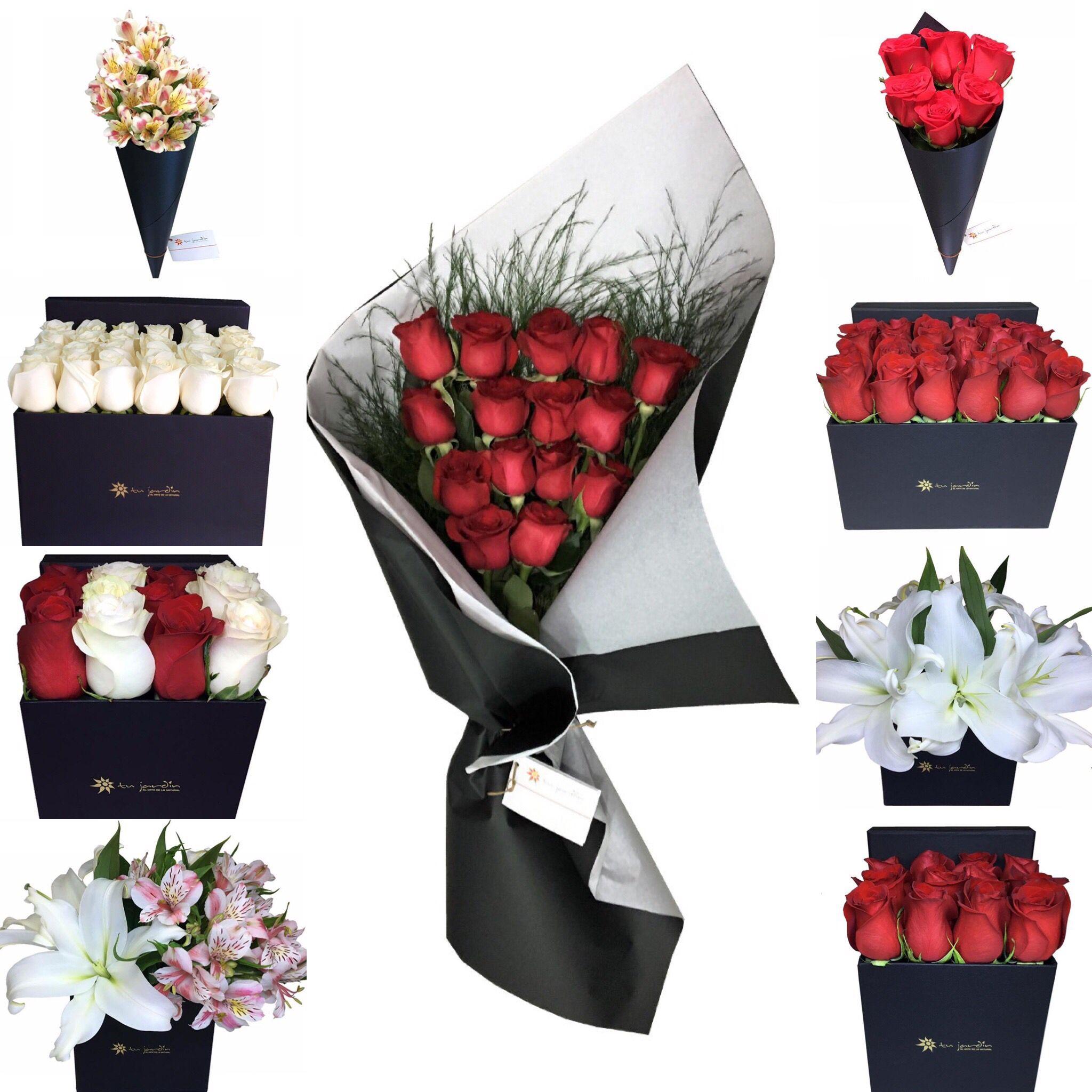 Ramos De Flores Flores En Caja Rosas Liliums Flores Flores En Caja Flores De Cumpleaños