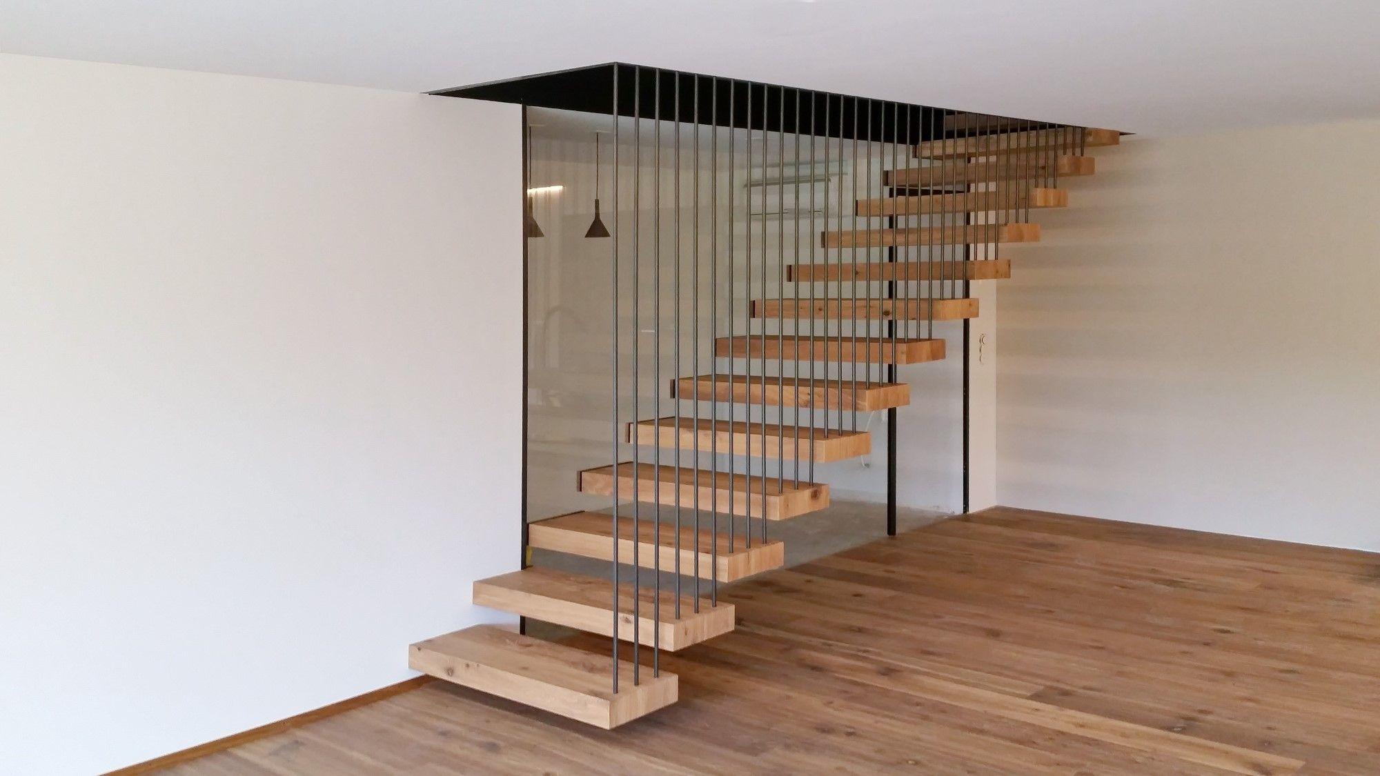 Kragstufentreppe Kragarmtreppe Aus Eichenparkett Treppe Kragarmtreppe Holztreppe