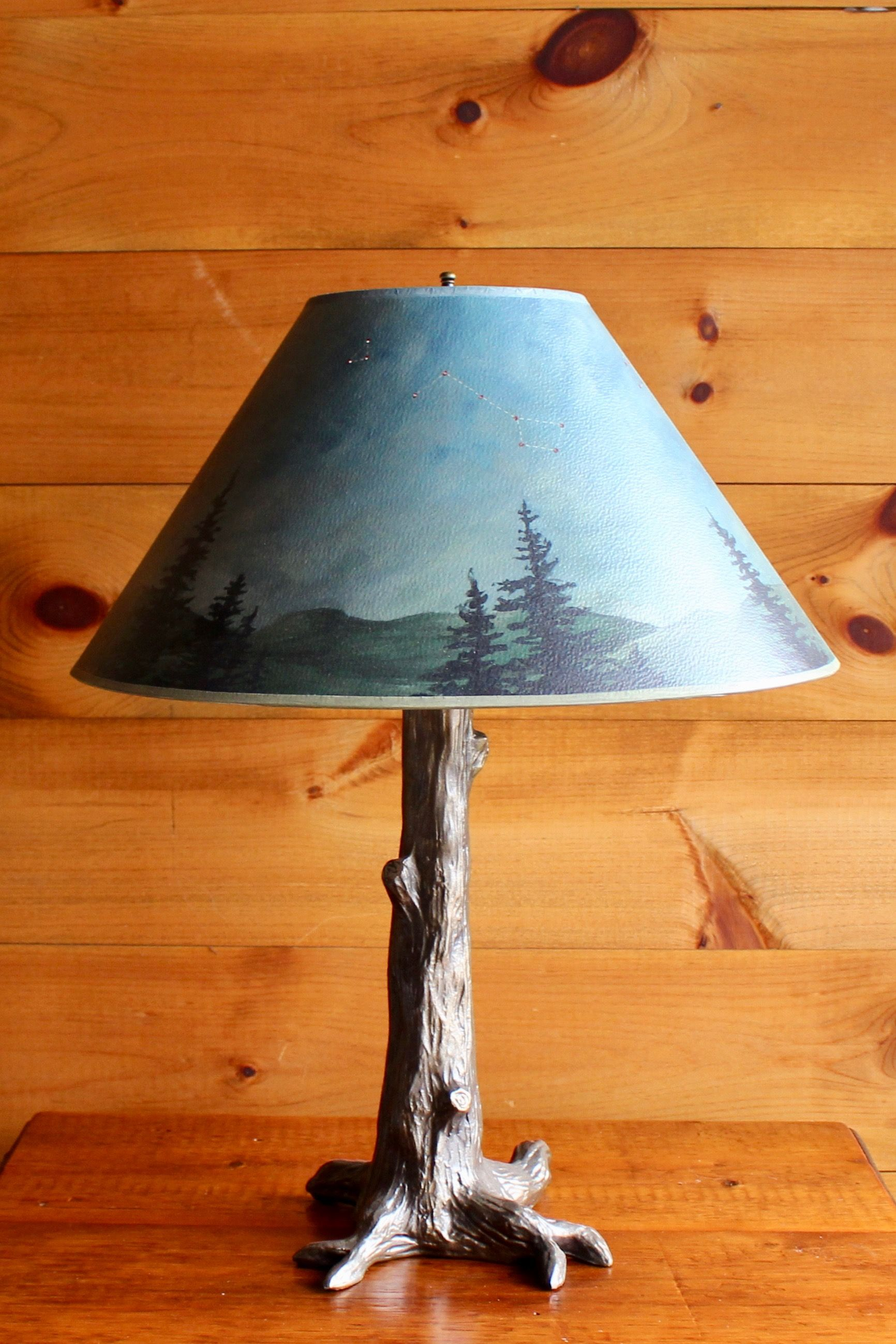 Rustic Star Table Lamp, Western Floor