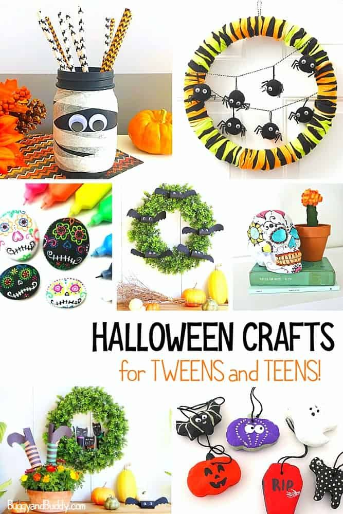 30+ Super Cute Halloween Crafts for Tweens and Teens! Halloween - halloween decorations to make on your own