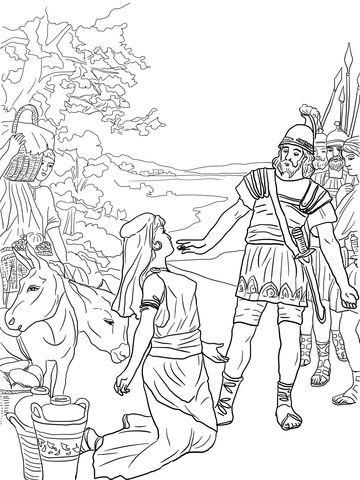 David And Abigail Coloring Page Free Printable Coloring Pages Bible Coloring Bible Coloring Pages Coloring Pages