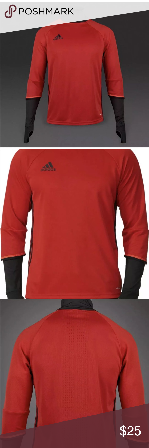 4e0e6a1f0 Adidas Condivo 16 Long Sleeve Soccer 11-12 Youth Adidas Red Black Condivo  16 Long