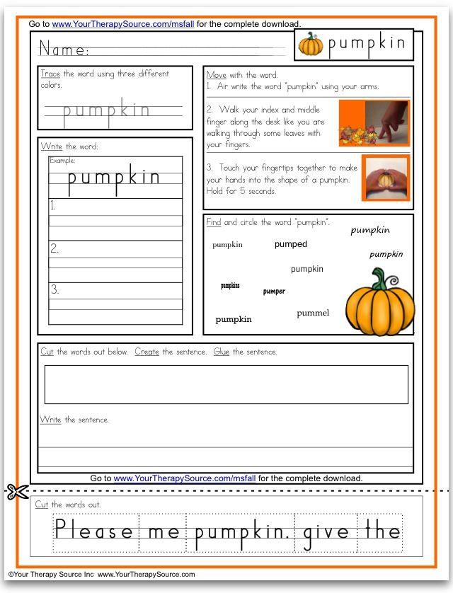 free pumpkin multisensory handwriting activity pediatric school based ot pt blog posts. Black Bedroom Furniture Sets. Home Design Ideas