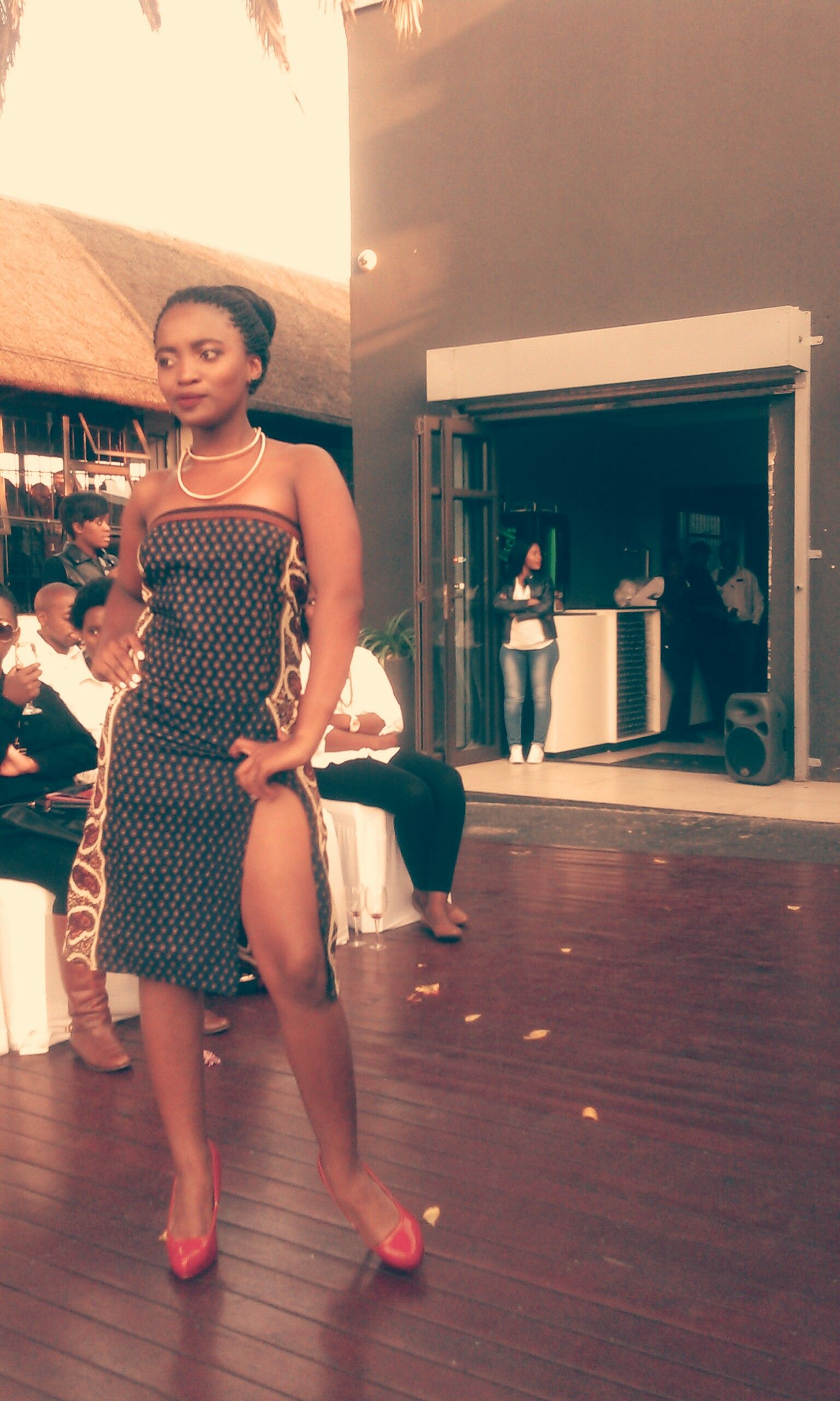 South African Fashion – Soweto #TheyWereNeverReady  #Dalokuhle #GlowEffectRange :IGVuvu23 FB:Dalokuhle African Printed Dress