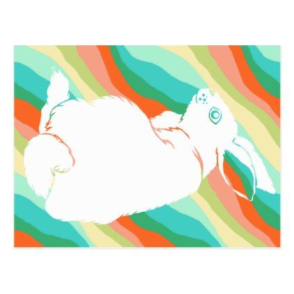 Easter Bunny Spring Abstract Pattern Postcard  Holiday Card Diy