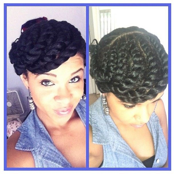 Natural Hair Protective Styles Flat Twist Protective Style  Hair  Pinterest  Protective Styles
