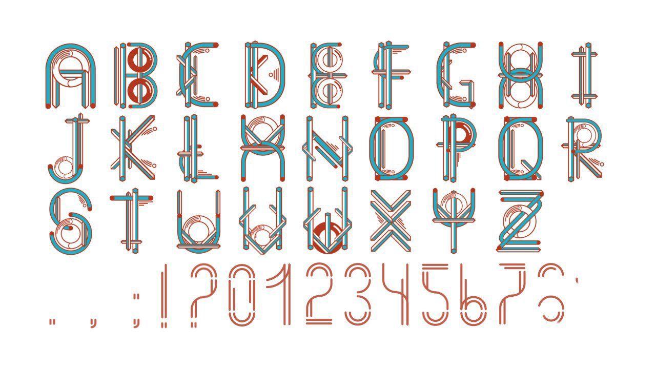 Animated Font Animated fonts, Animation, Fonts