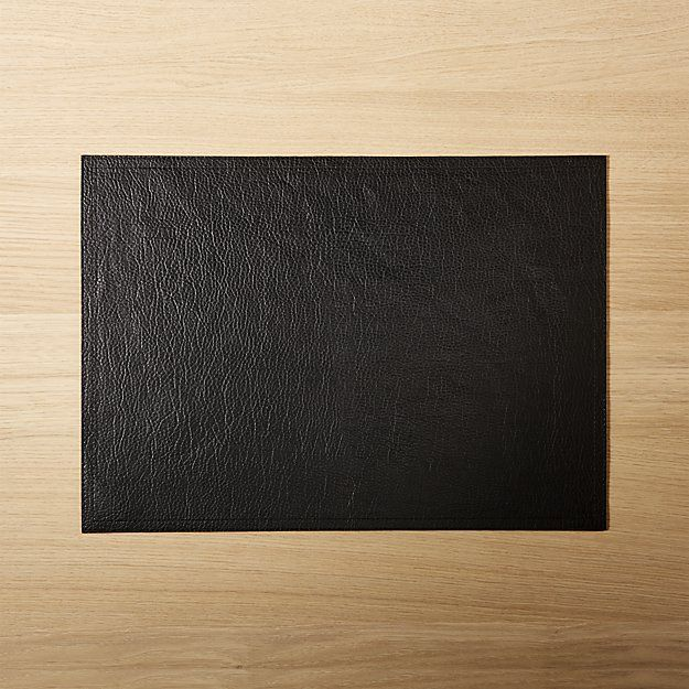 Faux Ivory Leather Placemat Cb2 Modern Placemats Placemats Leather