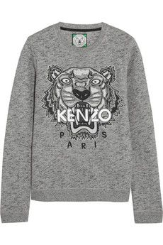 a07b82c8 KENZO Tiger embroidered cotton sweatshirt   NET-A-PORTER   wish list ...