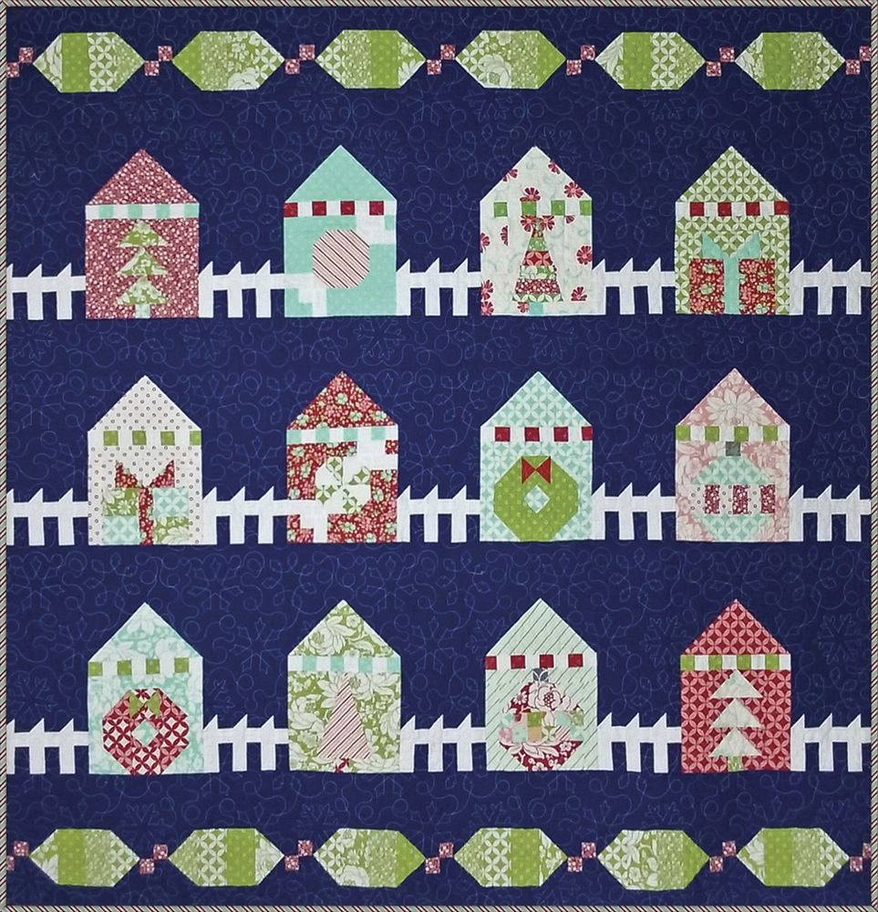 Christmas Lane quilt pattern by Summer Crafter