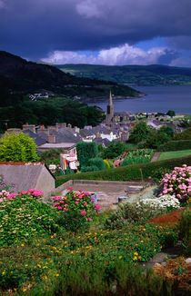 Village in the Antrim Glens.