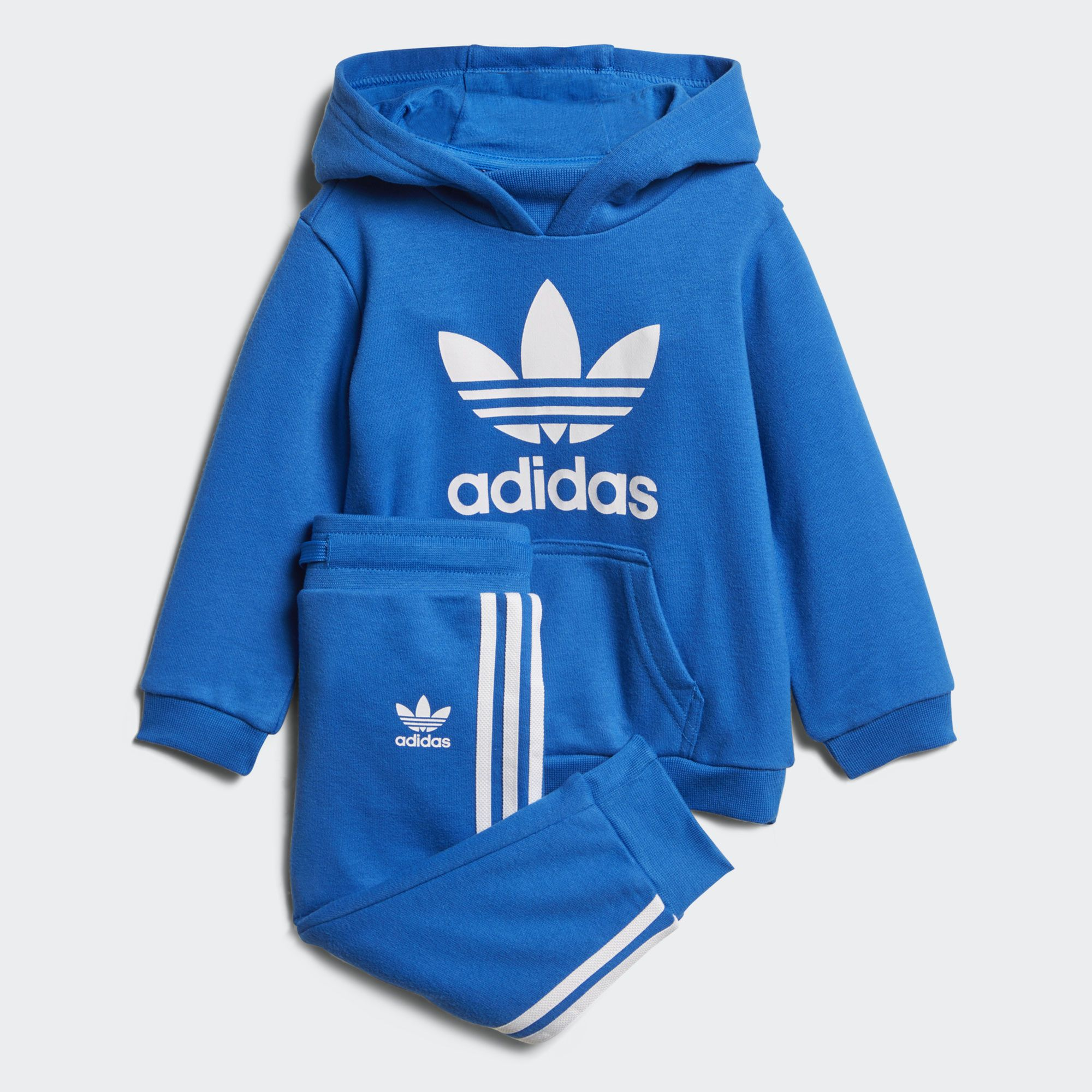 897d0e65eaa90 Shop for Trefoil Hoodie Set - Blue at adidas.co.uk! See all the styles and  colours of Trefoil Hoodie Set - Blue at the official adidas UK online store.