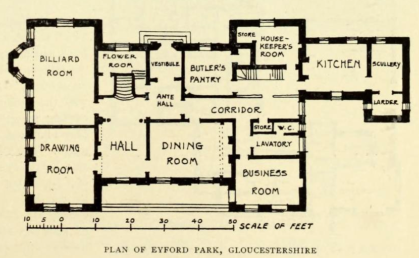 19th Century Manor House Floor Plans English Country House Plans