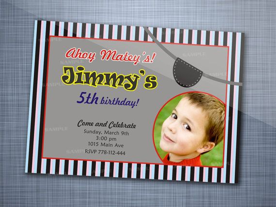 Stripe Pirate Party Photo Birthday Party by StarWhite007 on Etsy