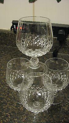 Cristal-Set-4-Brandy-glasses-Lead-Crystal