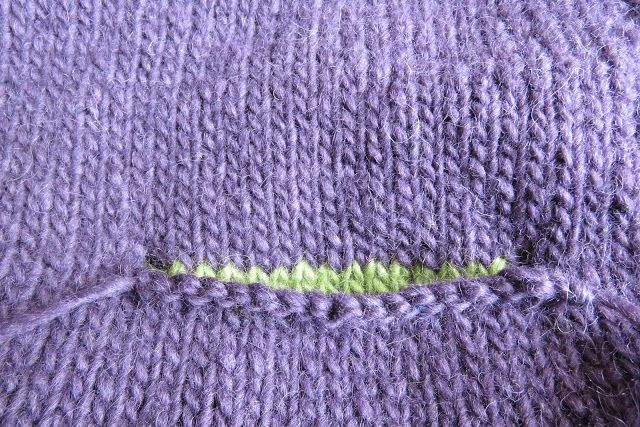 This Is All About Knitting Pockets Into A Top Down Sweater Assume