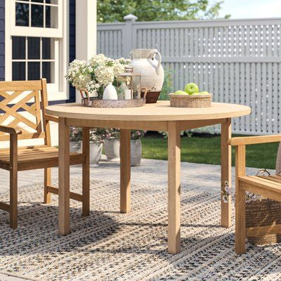 Heritage Genevieve Teak Dining Table Dining Table Round Outdoor