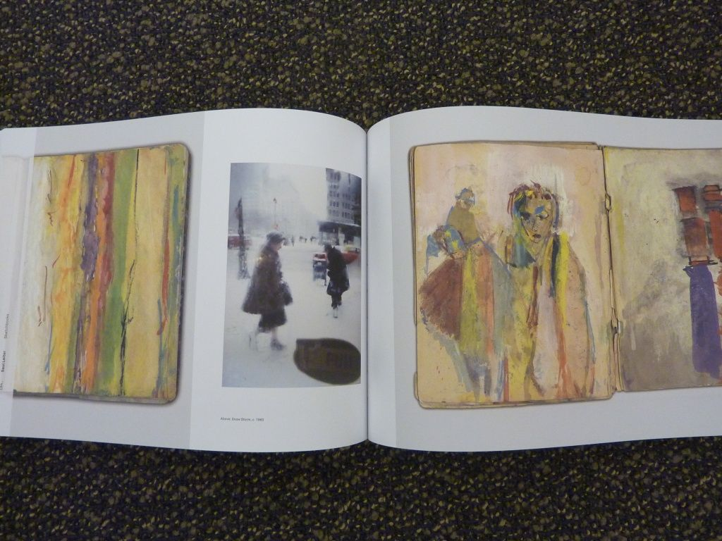 A page from Saul Leiter's painted sketchbooks - For the Photographers