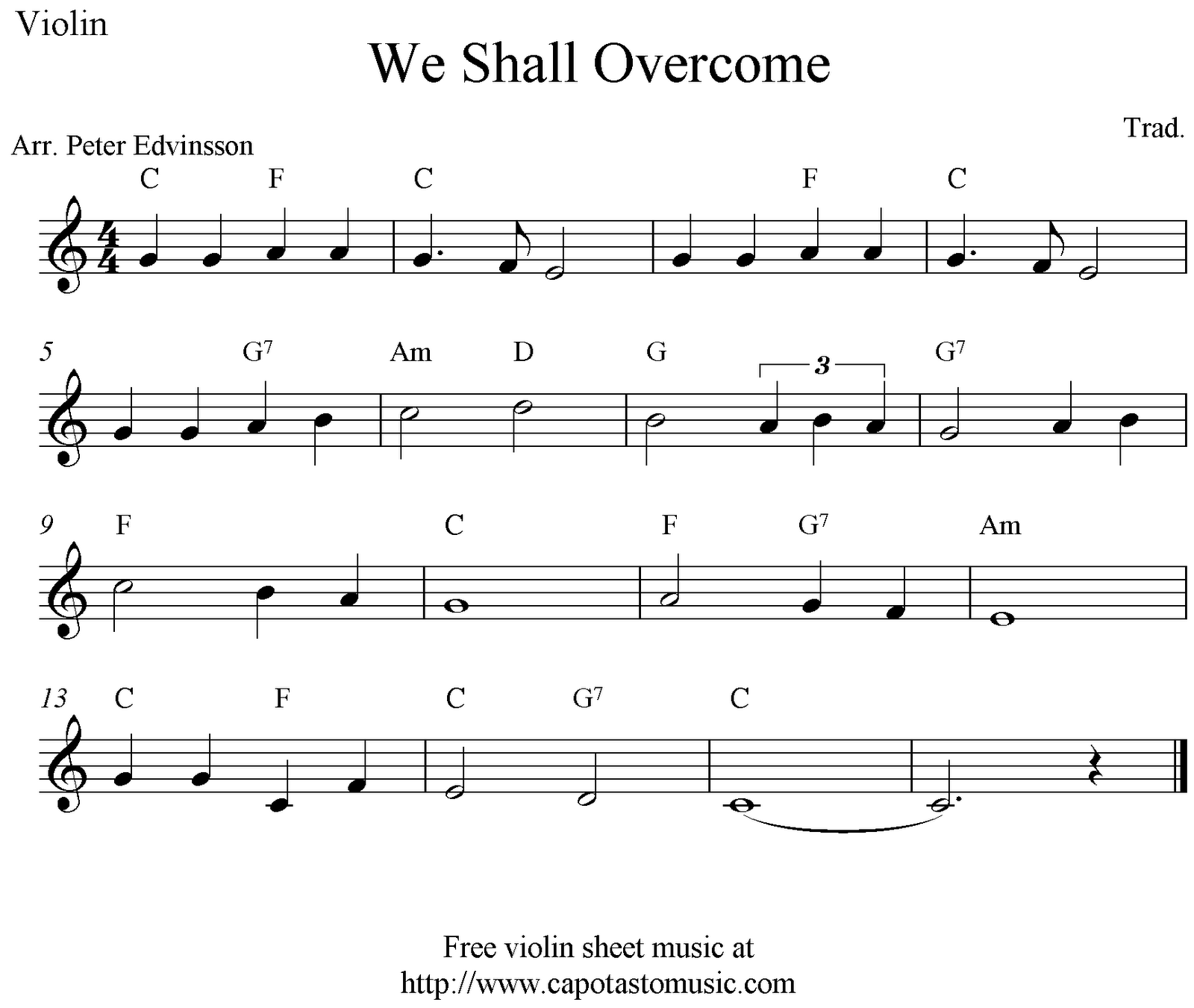 Free sheet music scores we shall overcome free violin sheet free sheet music scores we shall overcome free violin sheet music notes hexwebz Image collections