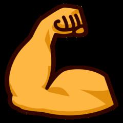 Flexed Biceps On Emojidex 1 0 34 Biceps Bicep And Tricep Workout Bicep Muscle