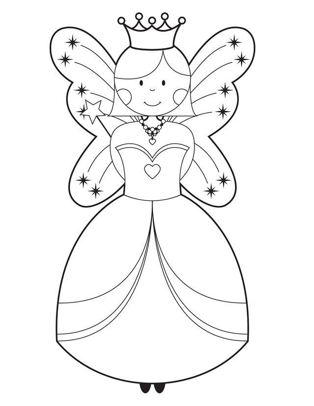 Simple Princess Coloring Pages By Rebecca Fairy Coloring Free Kids Coloring Pages Fairy Coloring Pages