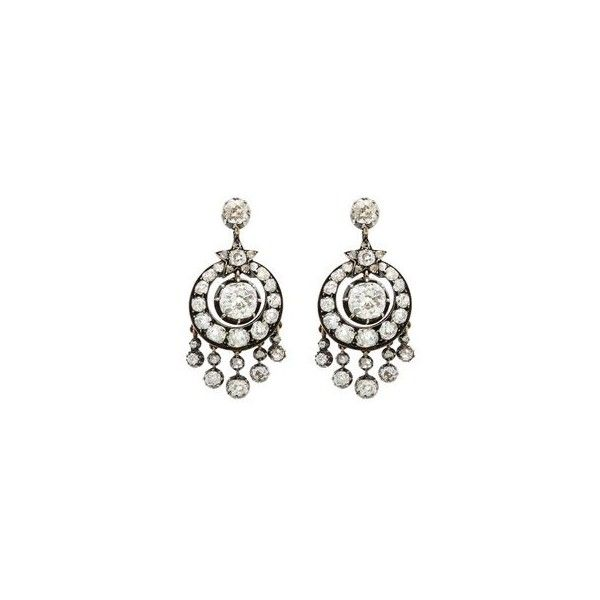 Victorian 6 carat diamond silver white gold chandelier earrings victorian 6 carat diamond silver white gold chandelier earrings liked on polyvore featuring jewelry aloadofball Images