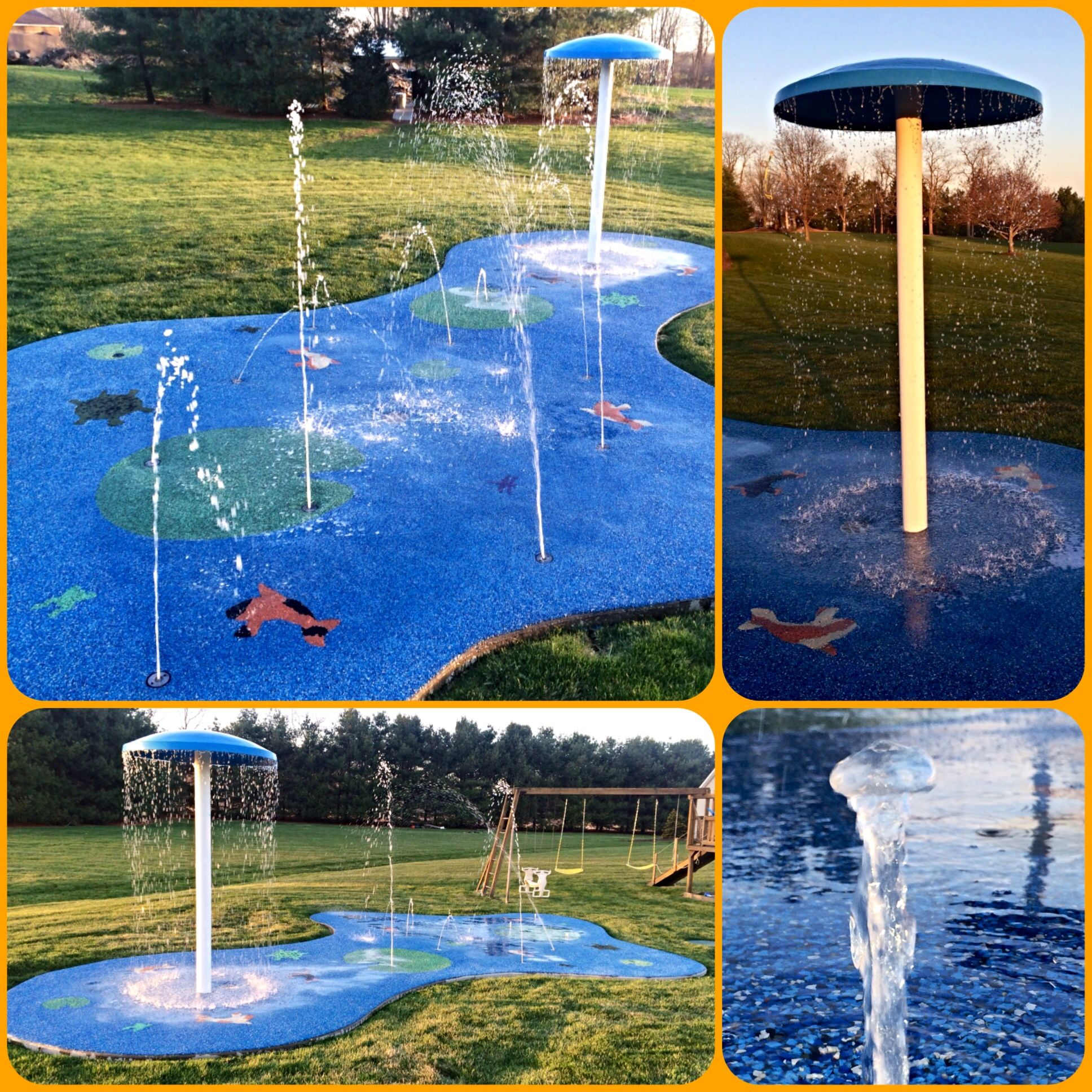 Commercial residential splash pads installed by my