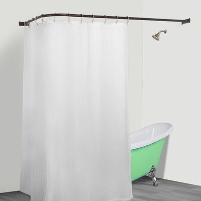 UtopiaAlley Rust Free Hoop 24 Oval Fixed Shower Curtain Enclosure Finish Oil Rubbed Bronze