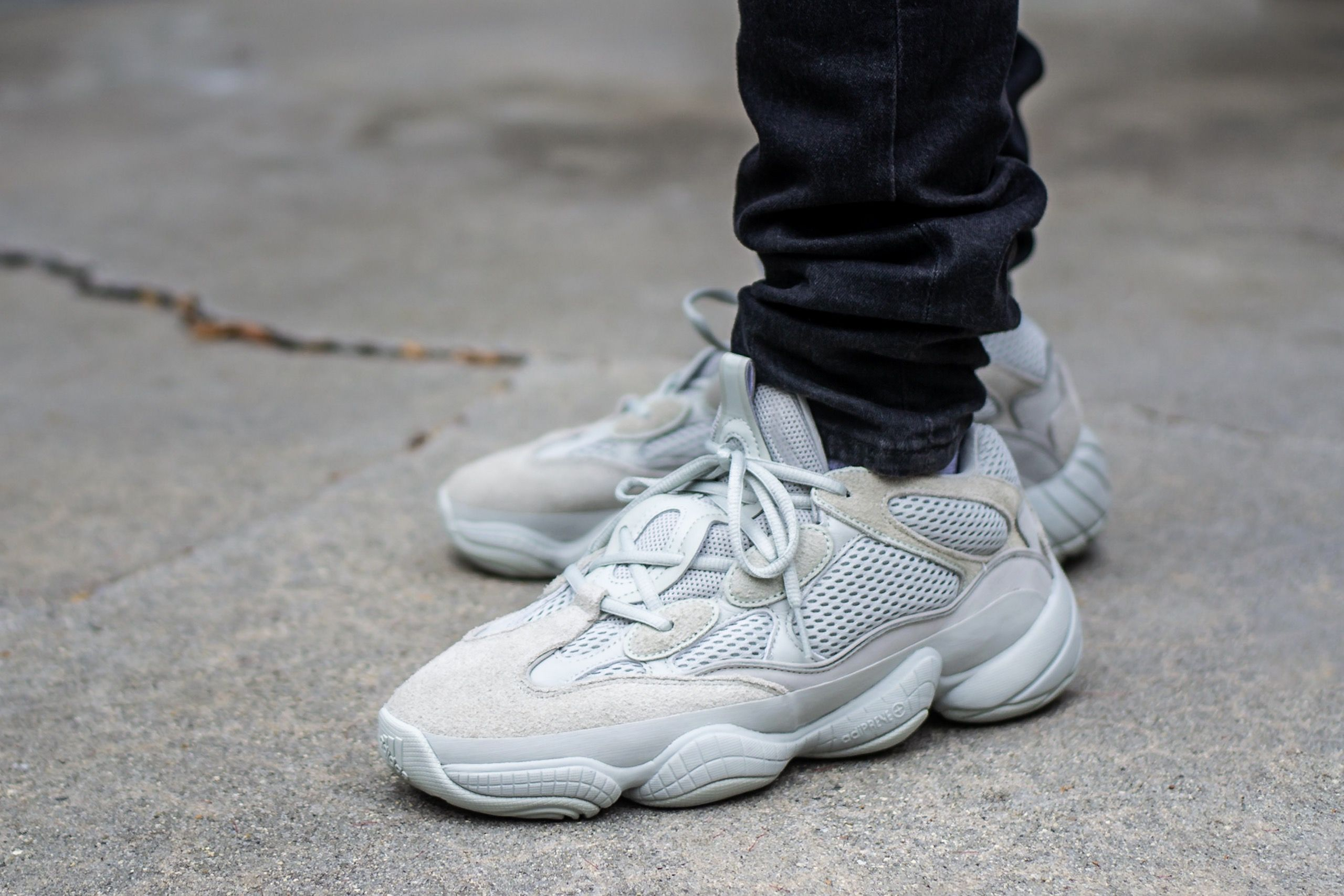 promo code 646ad 2ce7d Adidas Yeezy 500 Salt On Feet Sneaker Review | Sneakers ...