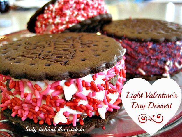 light valentine's day dessert | curtain lights, skinny cow ice, Ideas