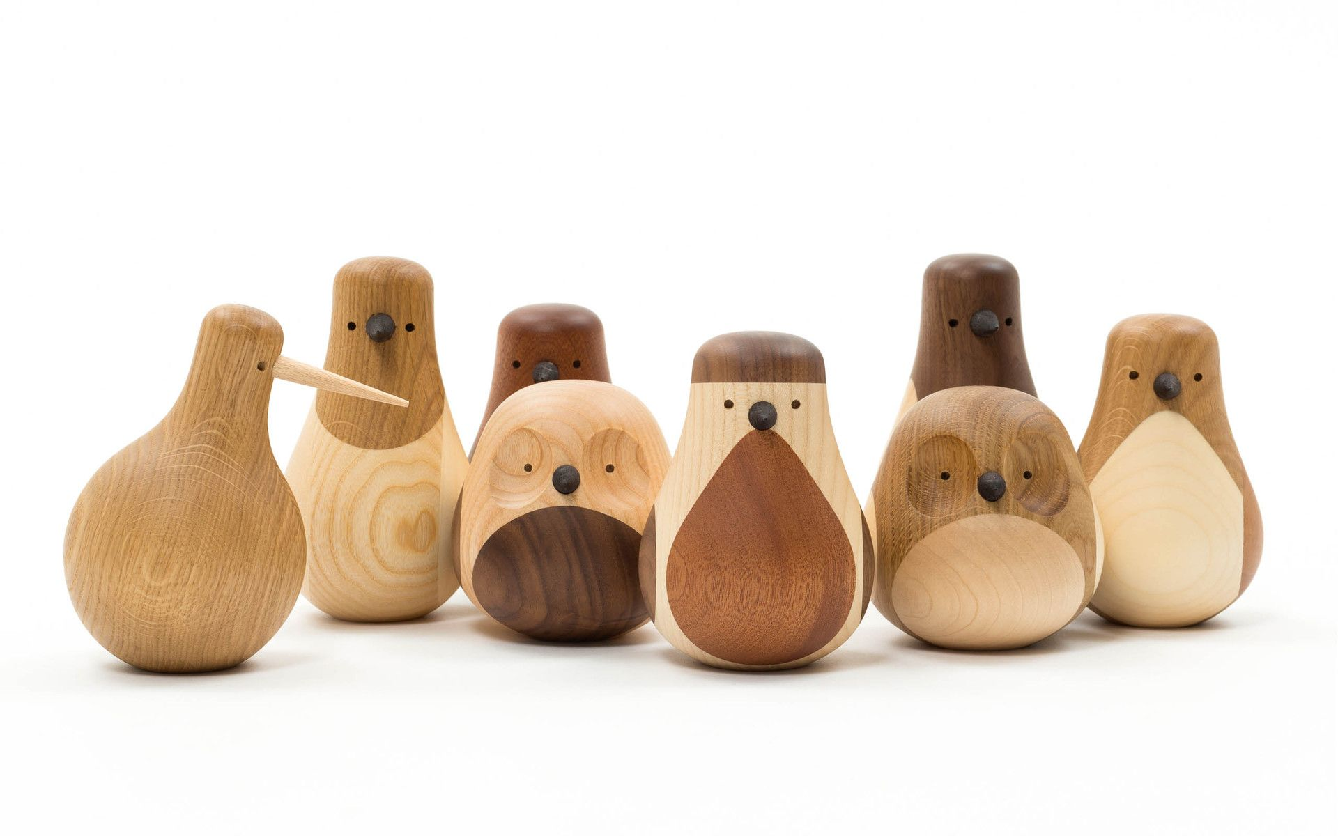 Wooden animals ornaments - Beller Uses Reclaimed Wood From Old Furniture In Norway To Make These Birds