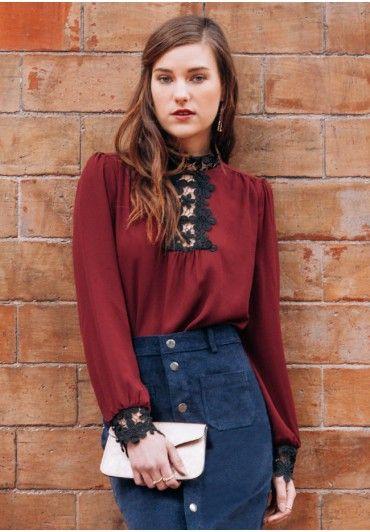 Regal Rose Blouse Modern Vintage Tops Modern Vintage Clothing Ruche Vintage Tops Modern Classy Blouses Vintage Outfits Classy