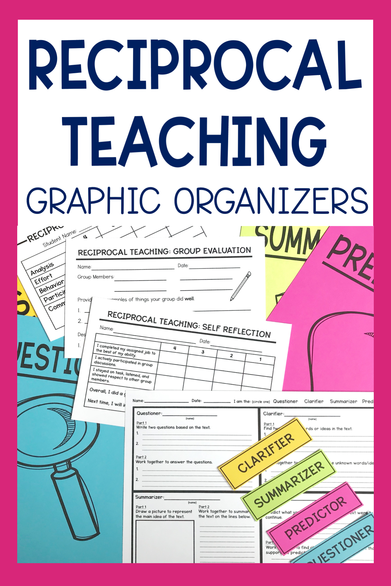 Reciprocal Teaching Graphic Organizers Printable And
