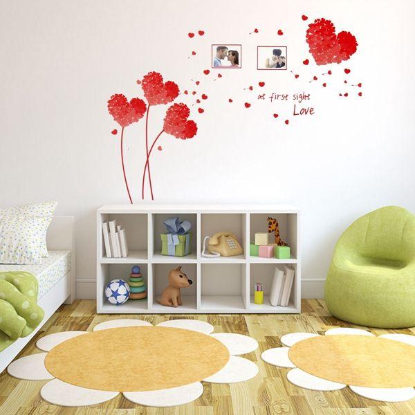 5 colores corazón amor pared pegatinas foto marco hojas arte Casa de ...