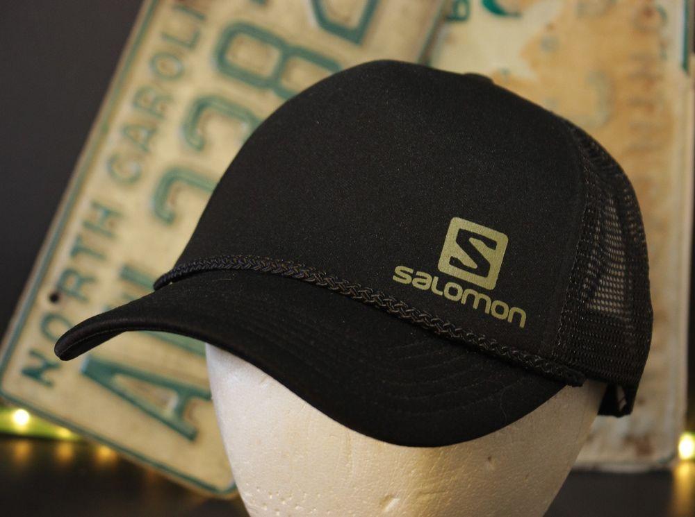 b7995aa9a37 Salomon Trucker Hat Cap Snapback Mesh Adjustable Black Hipster One Size   Salomon  Trucker