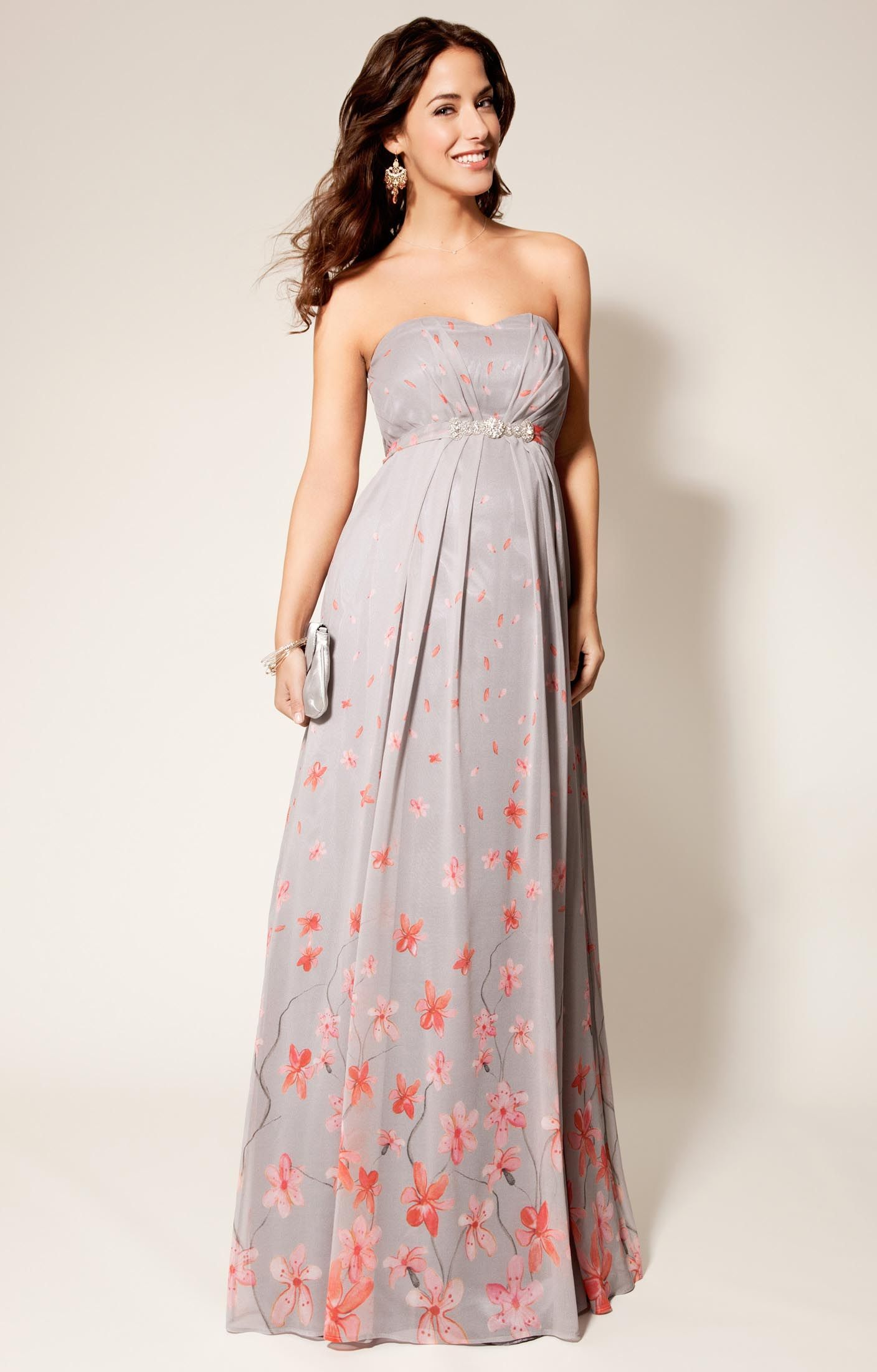 Breastfeeding dresses for weddings  Annabella Gown  Maternity gowns Peach blossoms and Tiffany rose