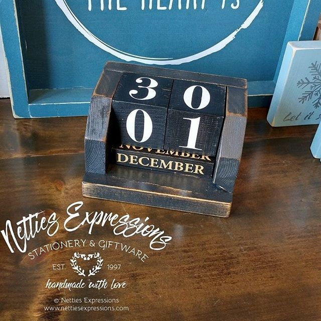 My wooden perpetual calendars are back in stock This calendar has