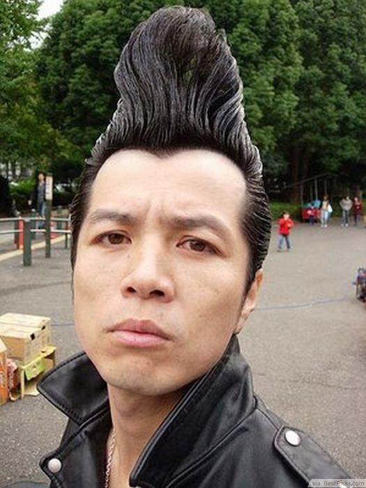 badass punk hairstyles men