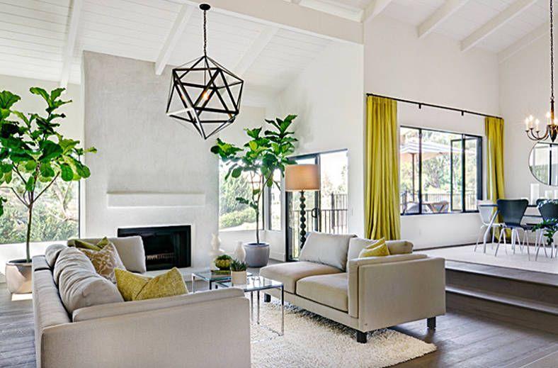 26 Tropical Decorating Ideas Fresh Off The Fashion Runways Sunken Living Room Living Room Lighting Living Room Designs