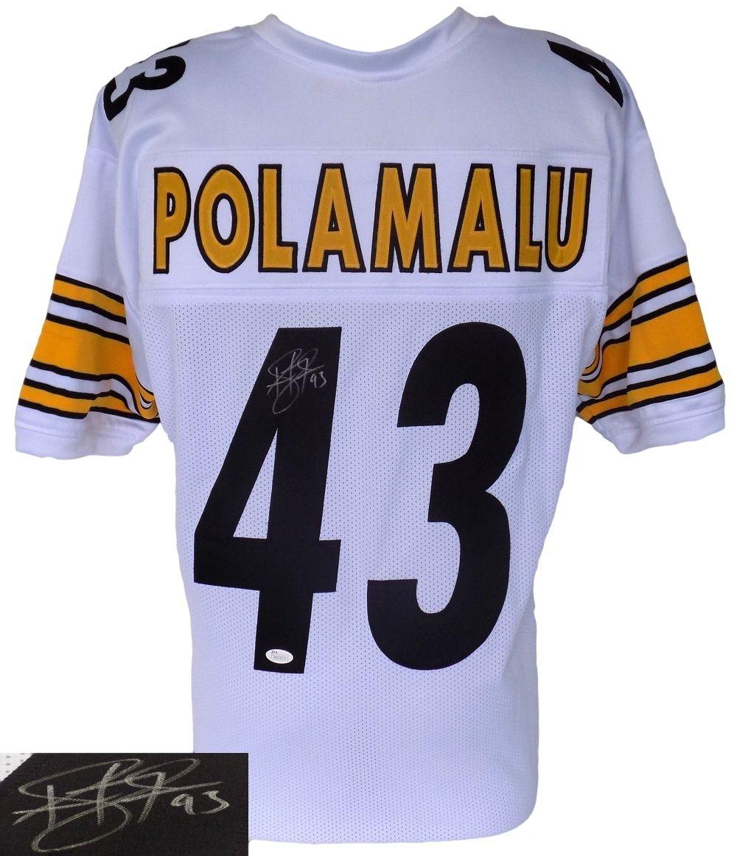 Troy Polamalu Signed Custom White Pro-Style Football Jersey JSA - Sports  Integrity c529bee7c