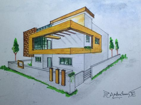ARCHITECTURAL perspective drawing #3
