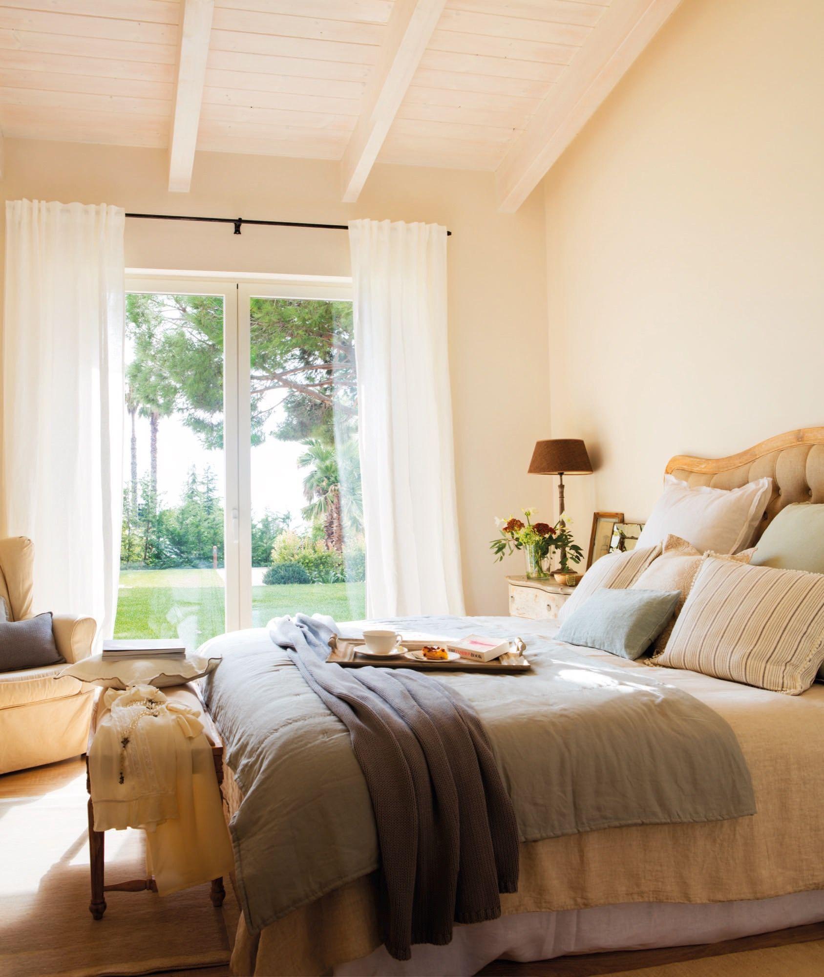 El dormitorio dormitorios bedroom pinterest casas - Cortinas rusticas dormitorio ...