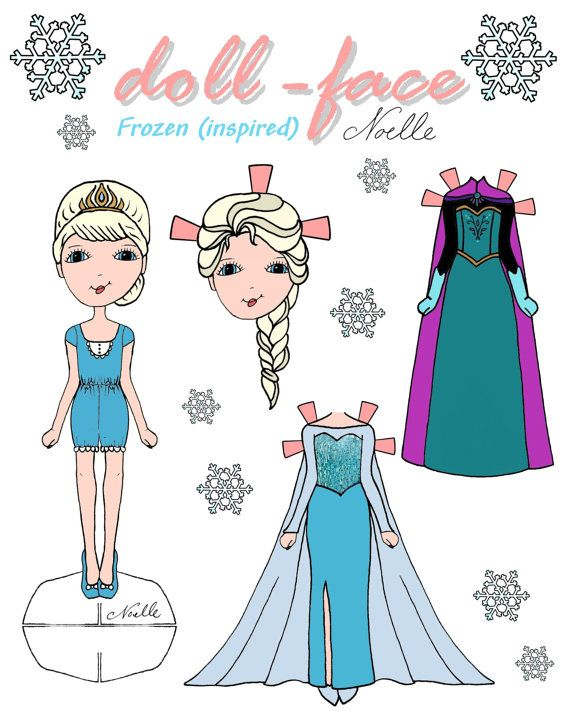 Disneys Frozen inspired Doll face printable paper dolls Elsa