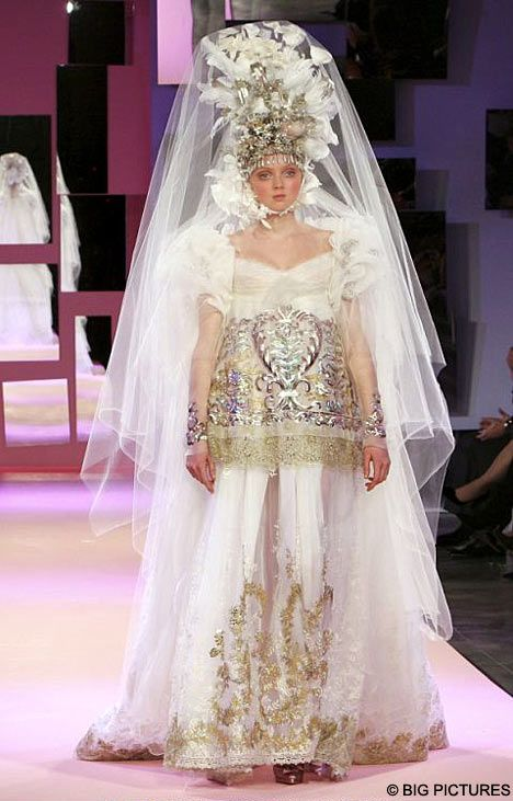 lily cole is lacroixs living doll wedding dress