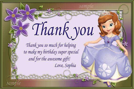 Sofia the First Printable. Princess Sofia Thank You Card Sofia the First Thank You Card Sofia the First Thank You Note