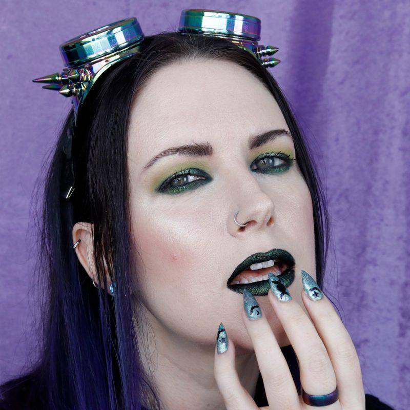 Green Halo Eye Tutorial CrueltyFree Green Makeup Step